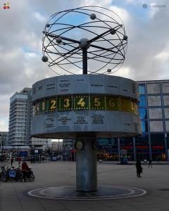 Weltzeituhr, o Relógio do Horário Mundial em Berlim