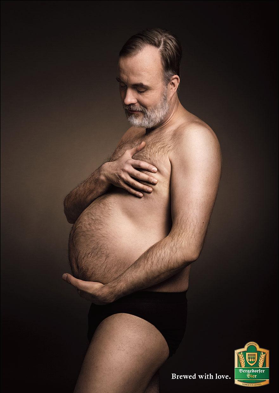 Homem grávido de cerveja na Alemanha